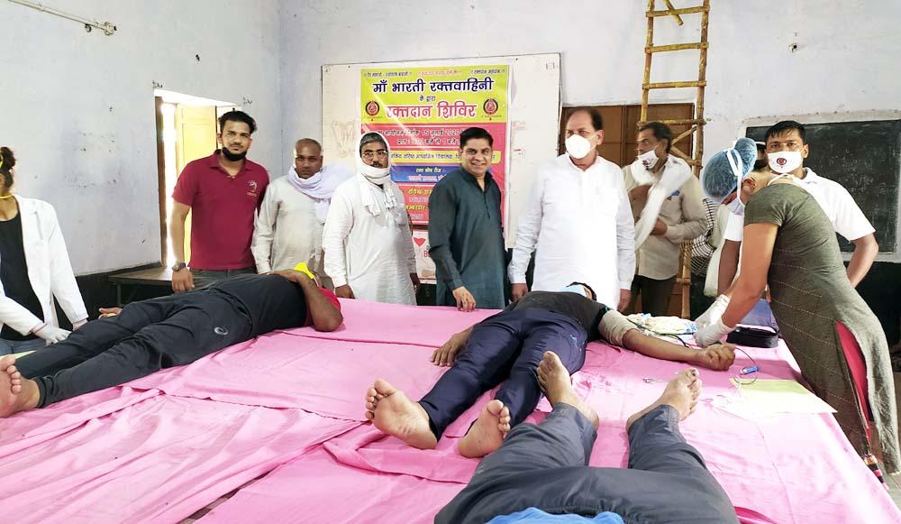 शिविर में युवाओं ने किया 46 यूनिट रक्तदान