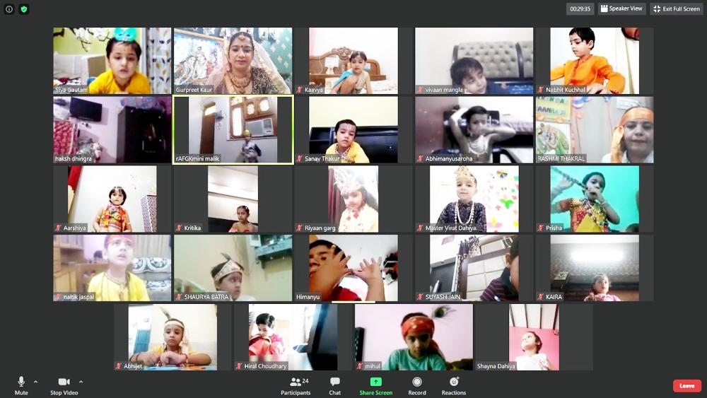 लिटल एंजल्स स्कूल की ऑनलाइन कक्षाओं में मची जन्माष्टमी की धूम