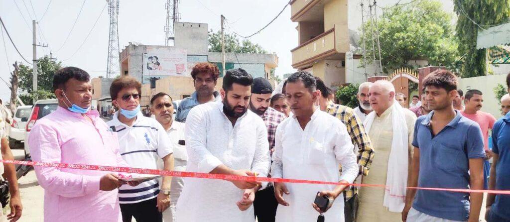 शामाबाद में गली निर्माण कार्य का मेयर ने किया शुभारंभ