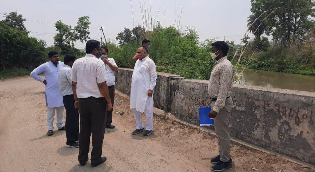 पेयजल के लिए भाजपा नेता ने ककराई हेड का दौरा किया