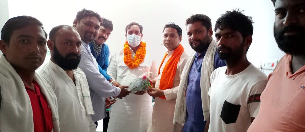 हरियाणा सफाई कर्मचारी आयोग के चेयरमैन का किया स्वागत : संदीप सारसर